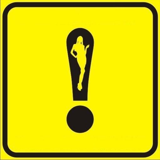 восклицательным знаки-наклейка на знаком с автомобильтреугольник